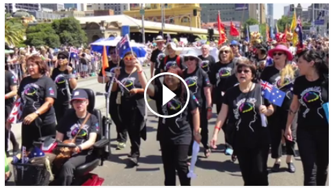 Video of With One Voice in the Australia Day Parade,  2016 Melbourne