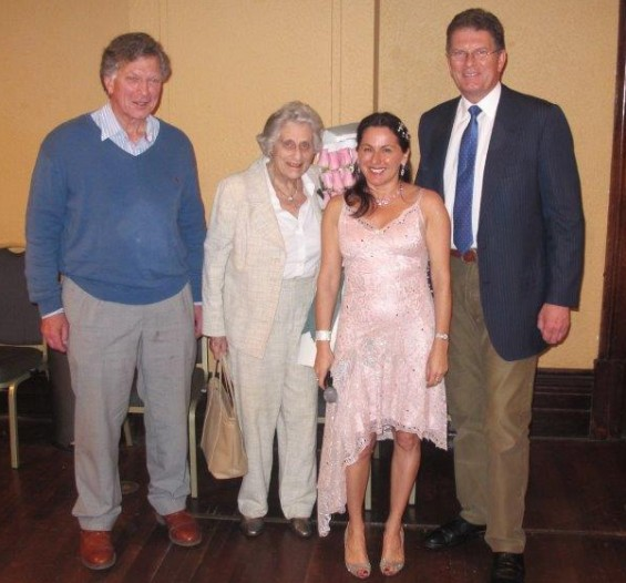 Tania de Jong with Marigold Southey, Ted and Ian Baillieu