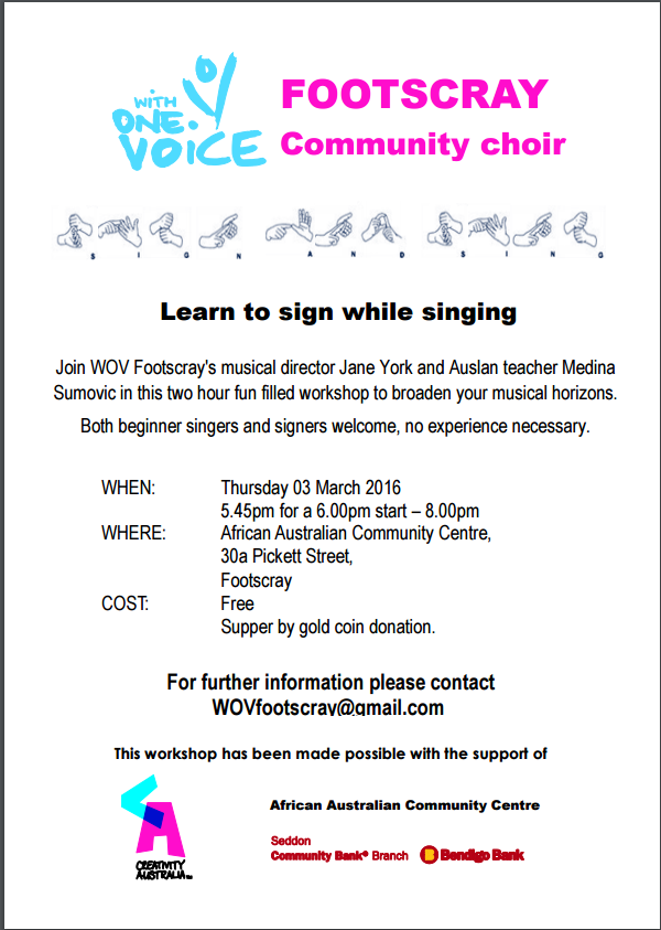 Auslan workshop